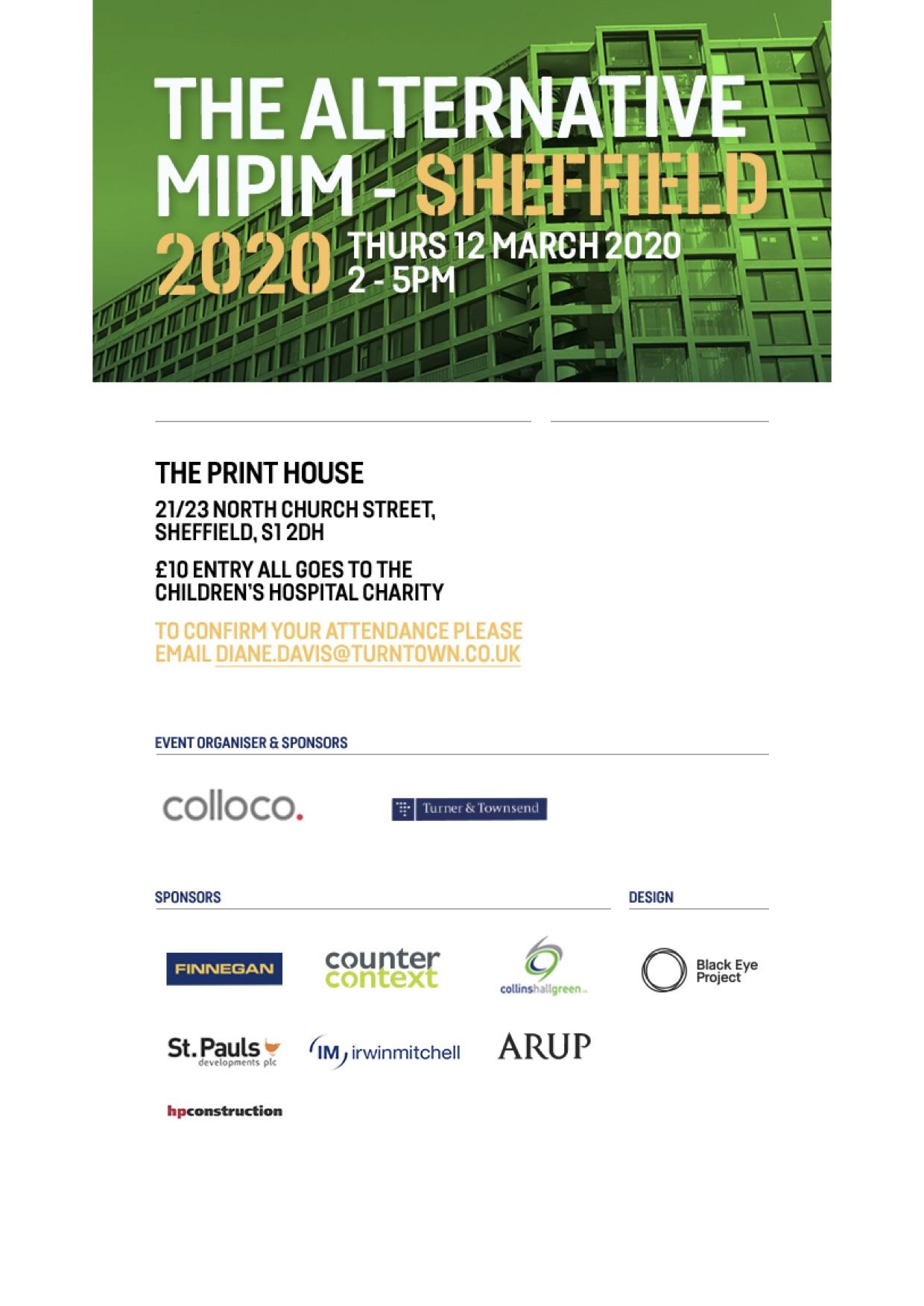 Proud sponsor of Alternative MIPIM 2020